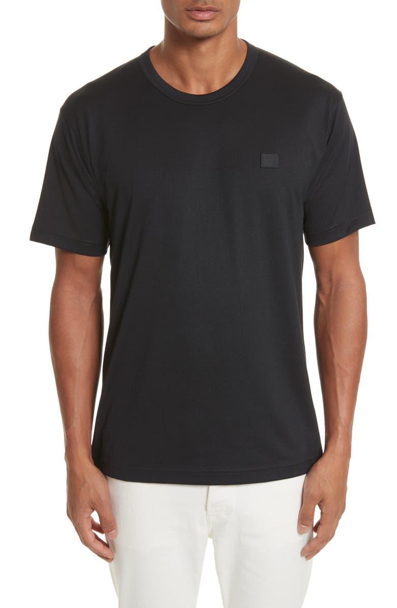 ACNE STUDIOS Nash Face T-Shirt, Main, color, BLACK