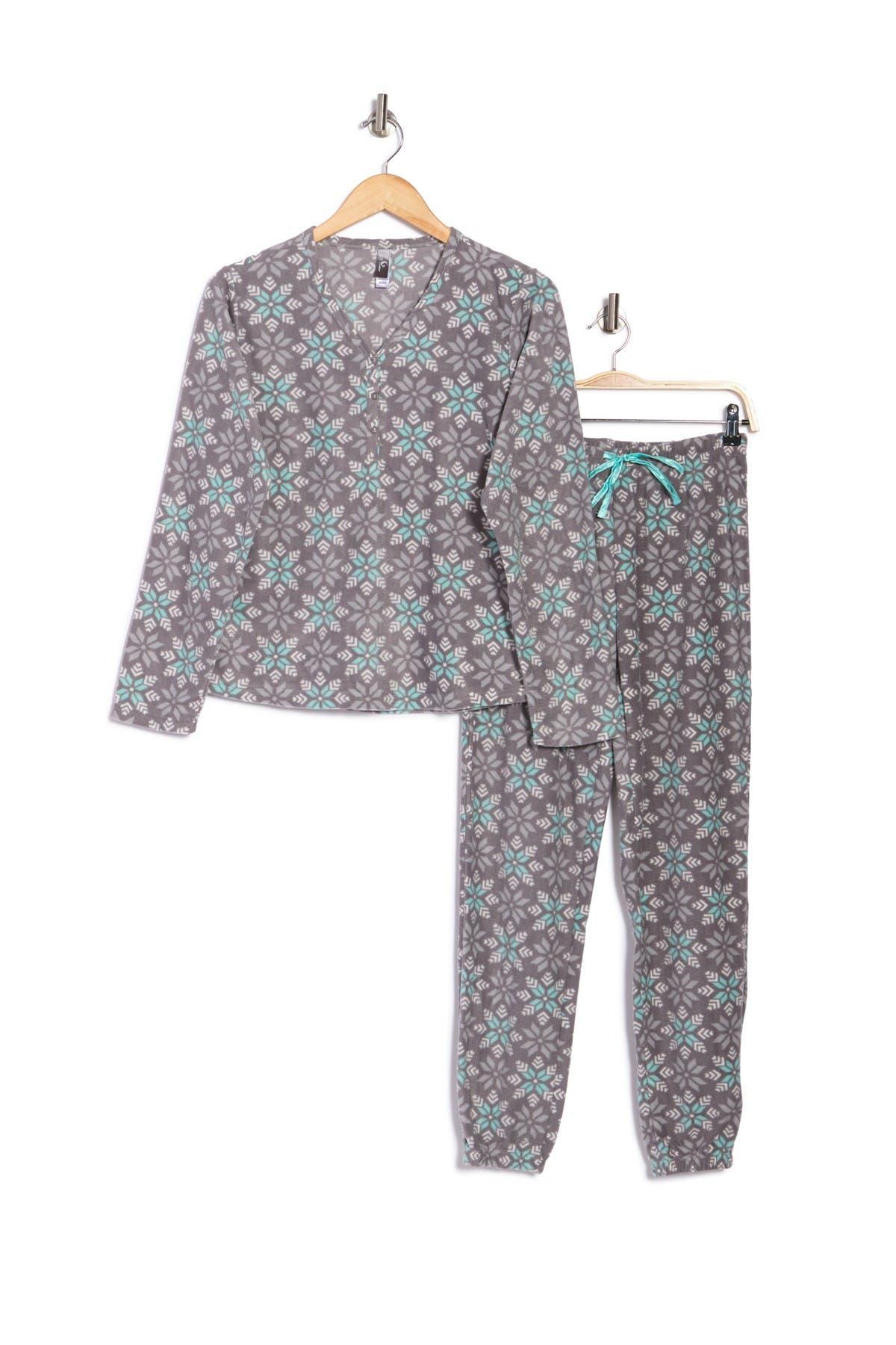 PJ Couture Printed Shirt & Pants 2-Piece Pajama Set