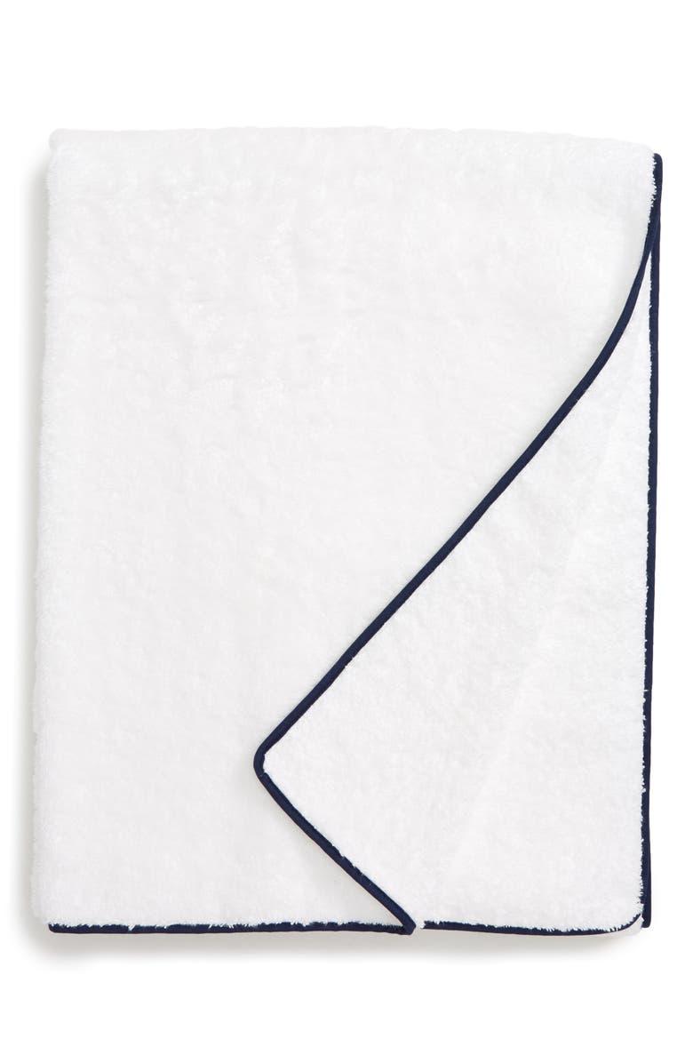 MATOUK Cairo Spa Towel, Main, color, NAVY