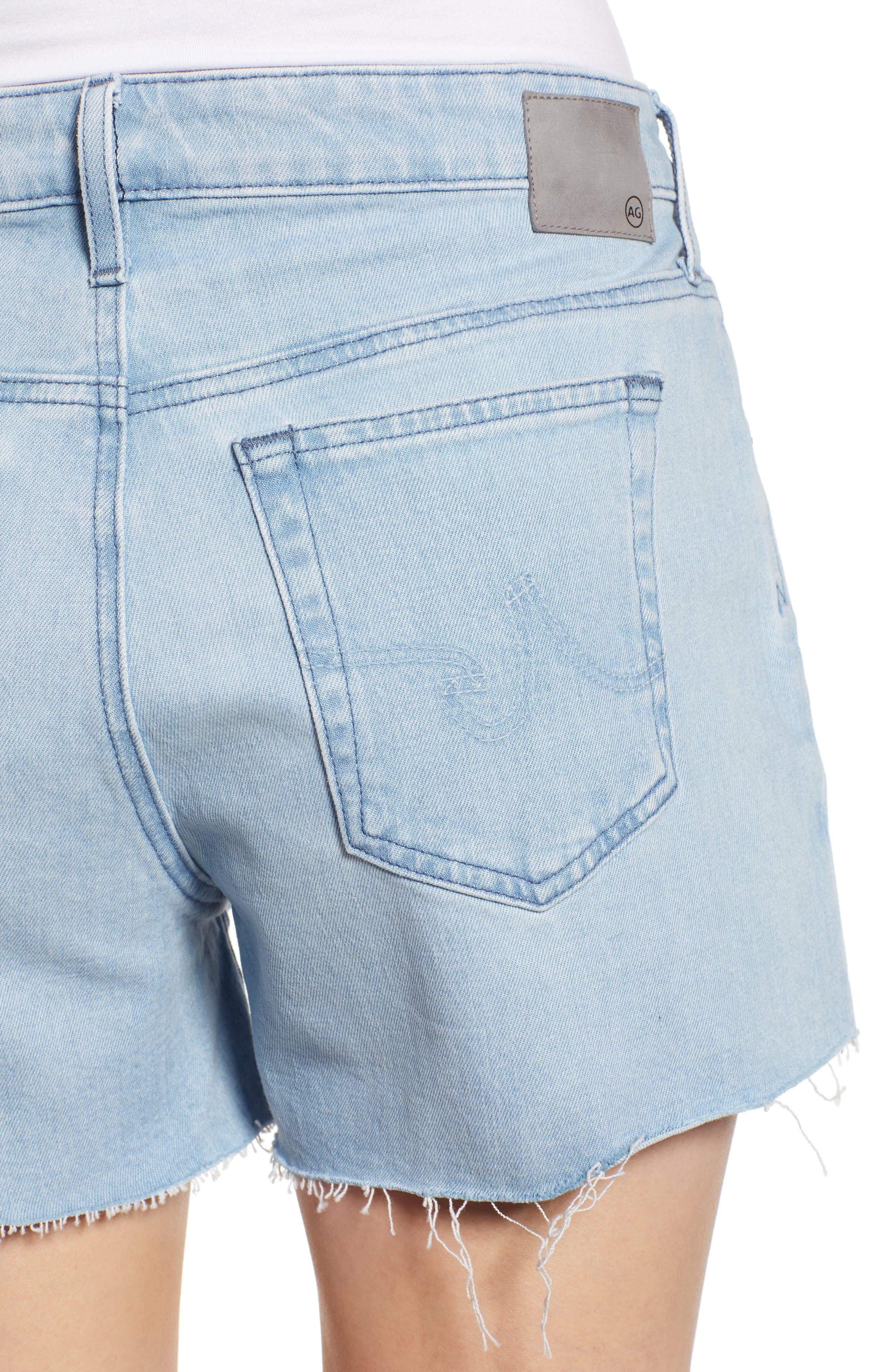 ,                             Hailey Boyfriend Cutoff Denim Shorts,                             Alternate thumbnail 5, color,                             26 YEARS SANGUINE