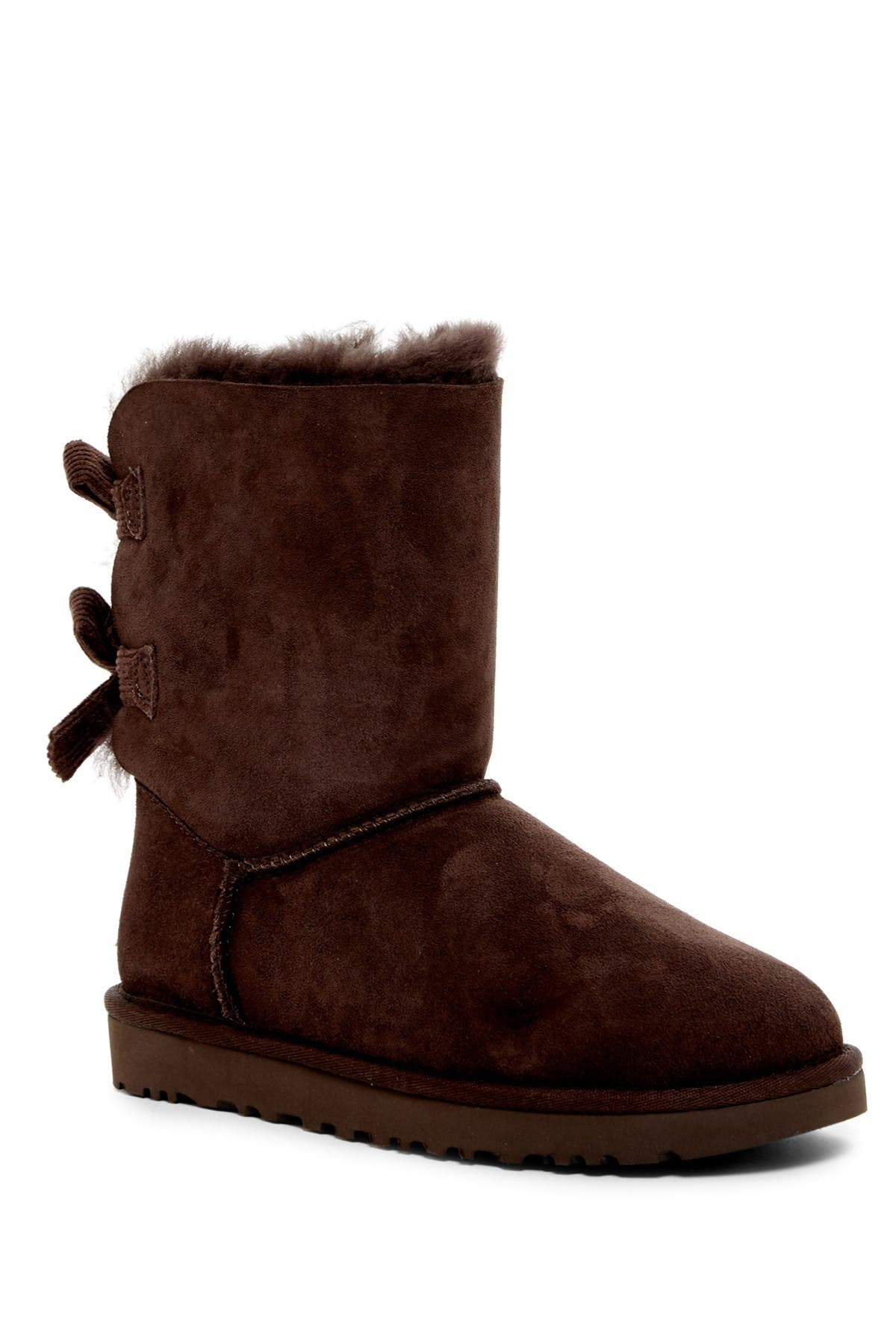 Image of UGG Bailey Twinface Genuine Shearling &  Bow Corduroy Boot