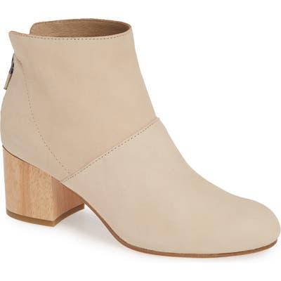 Eileen Fisher Suri Block Heel Bootie, Beige