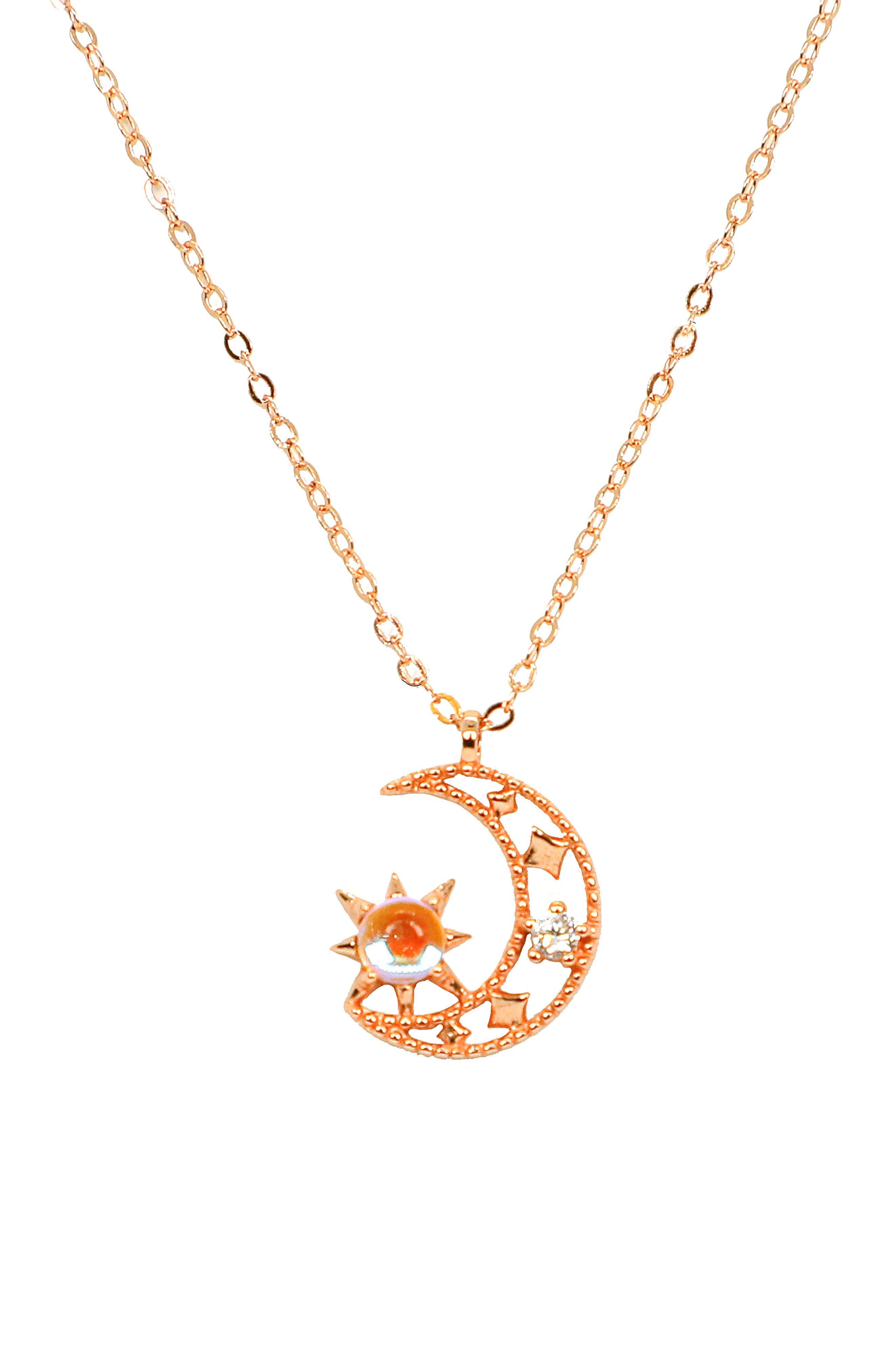 Radiant Moon Pendant Necklace