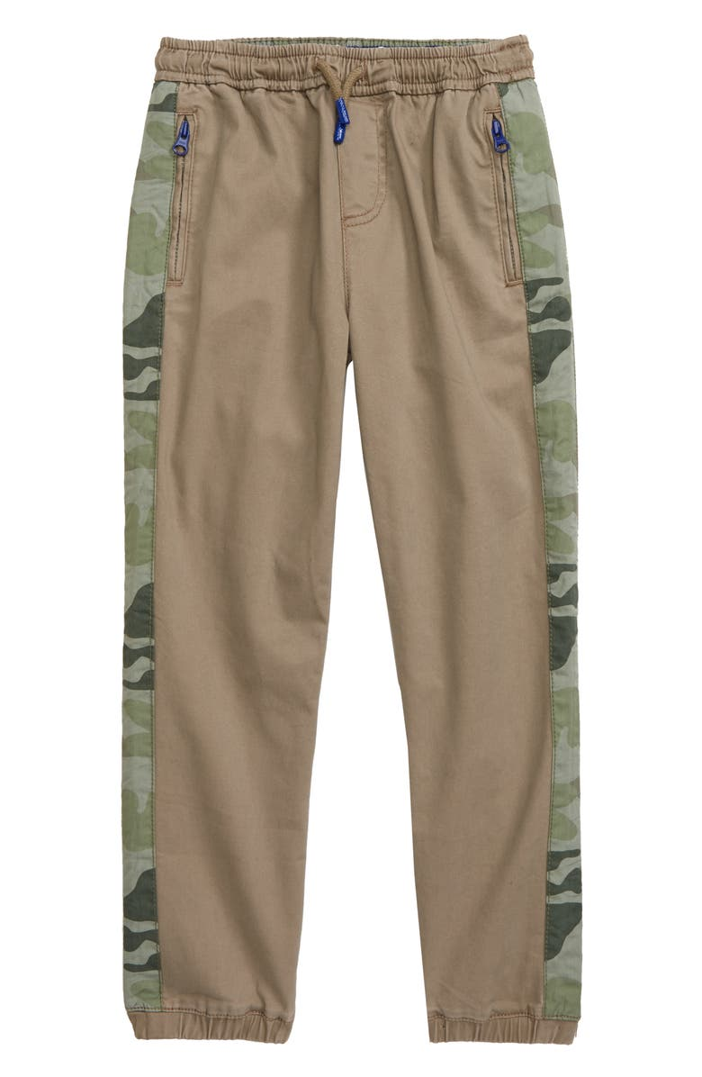 MINI BODEN Sporty Twill Jogger Pants, Main, color, NUTTY BROWN