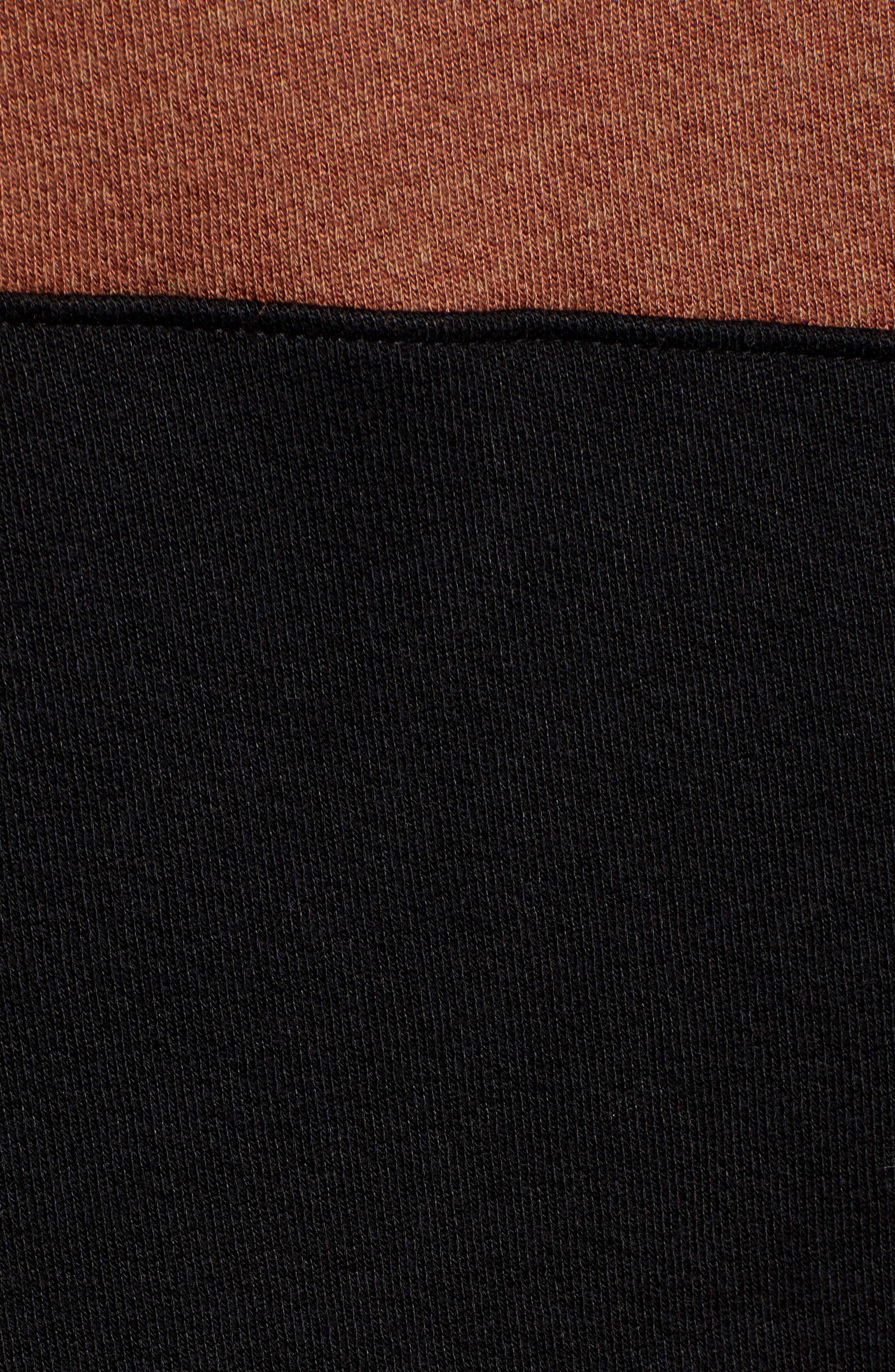 ,                             Stripe Quarter Zip Sweatshirt,                             Alternate thumbnail 5, color,                             002