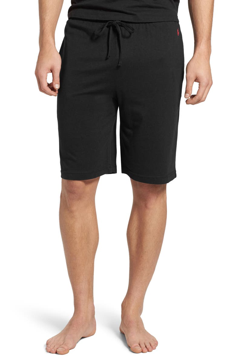 POLO RALPH LAUREN Sleep Shorts, Main, color, POLO BLACK