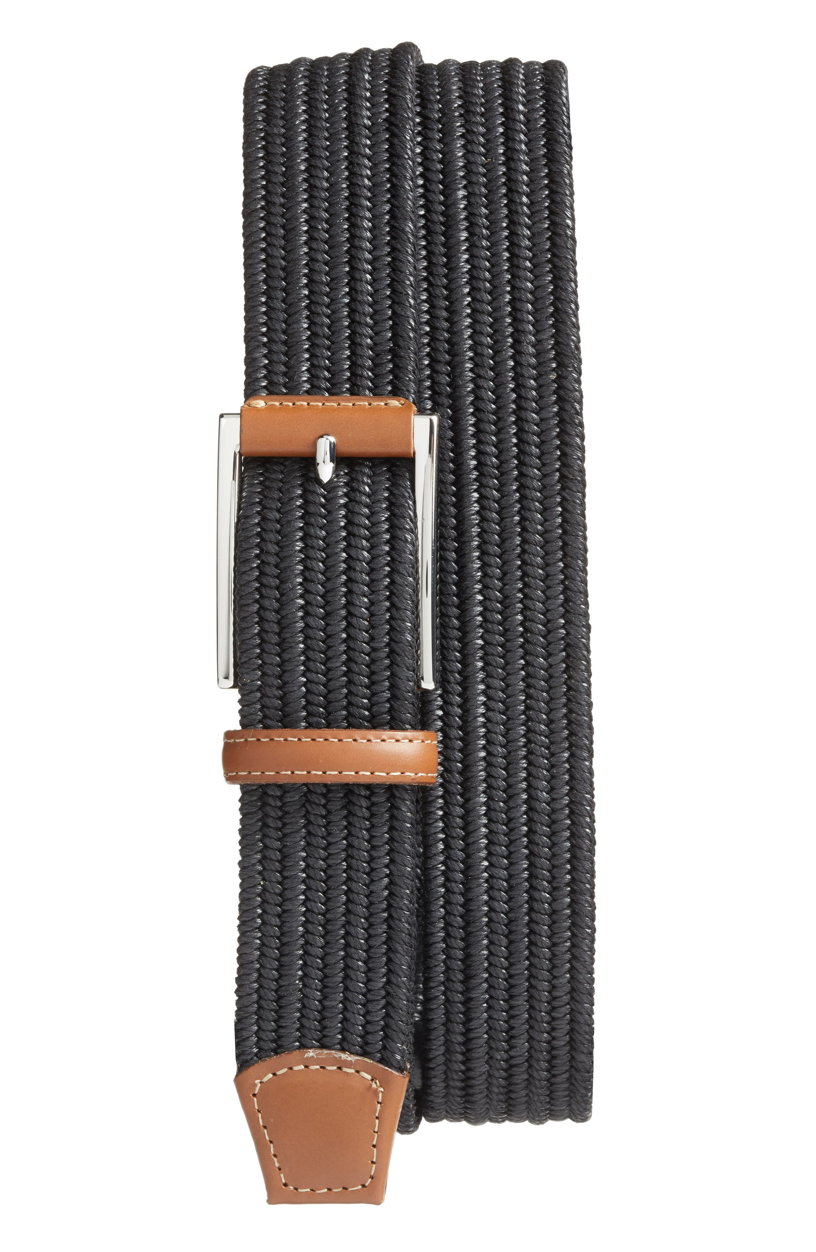 Touches of calfskin leather elevate a charming belt crafted in America from a stretchy Italian cotton blend. Style Name: Torino Woven Belt. Style Number: 5365705. Available in stores.