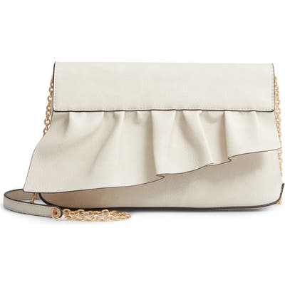 Sole Society Arwen Faux Leather Clutch - Ivory