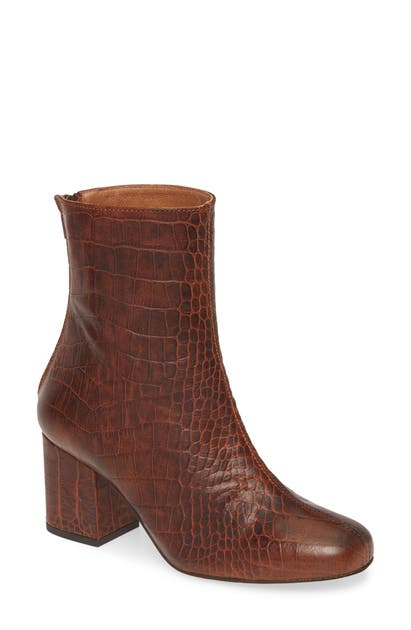Free People Boots CECILE CROC EMBOSSED BOOTIE