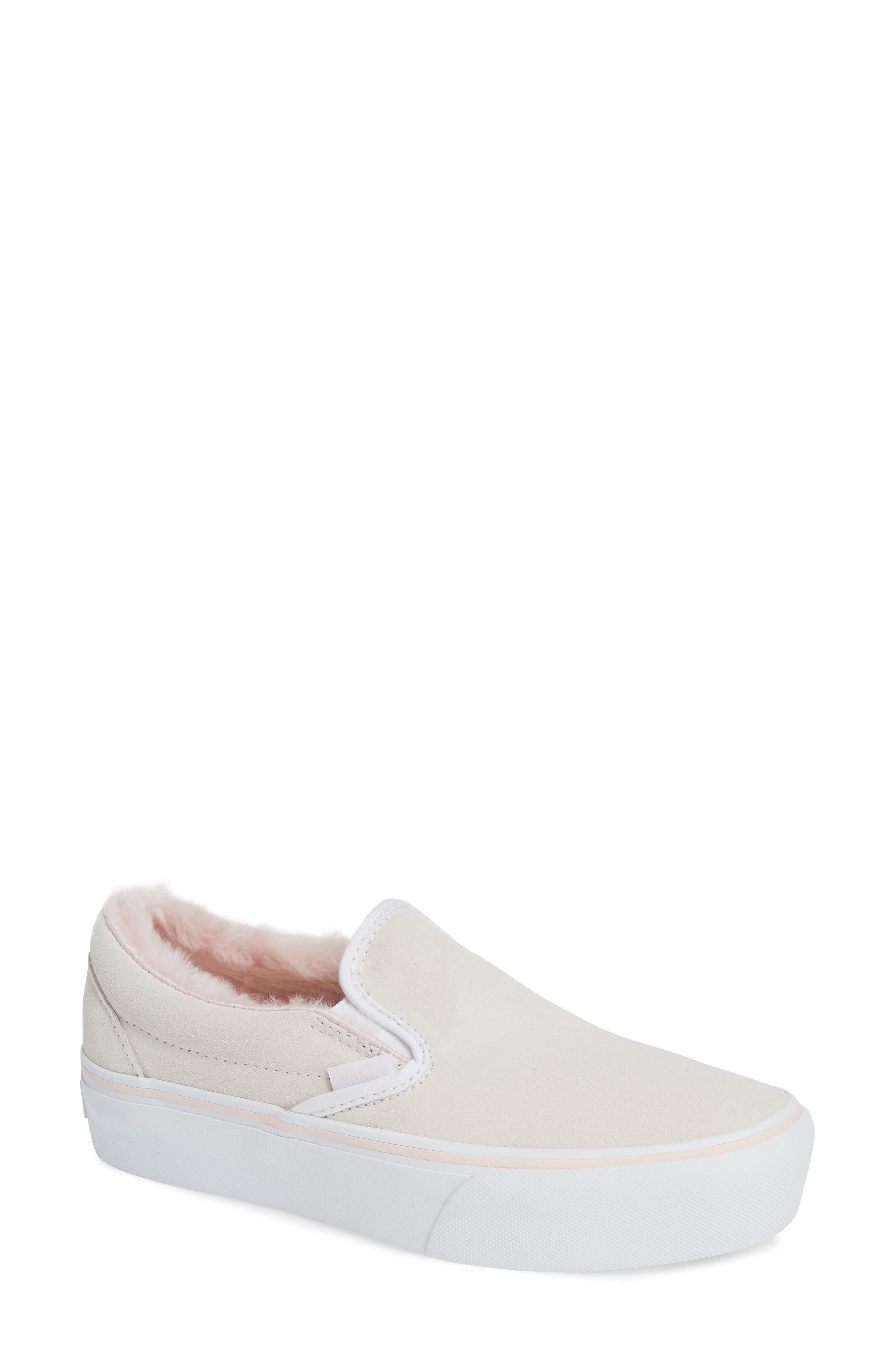 ,                             Classic Faux Fur Slip-On Platform Sneaker,                             Main thumbnail 7, color,                             900