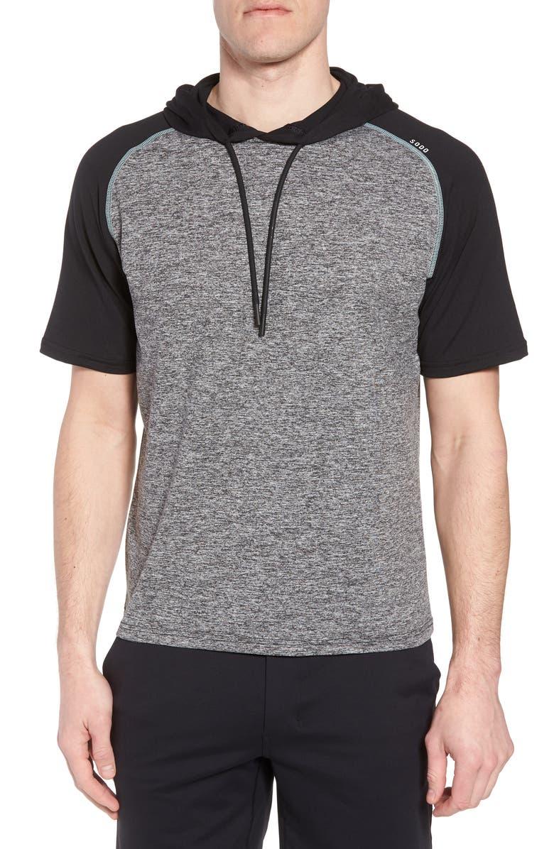 SODO Quad Short Sleeve Hoodie, Main, color, 003