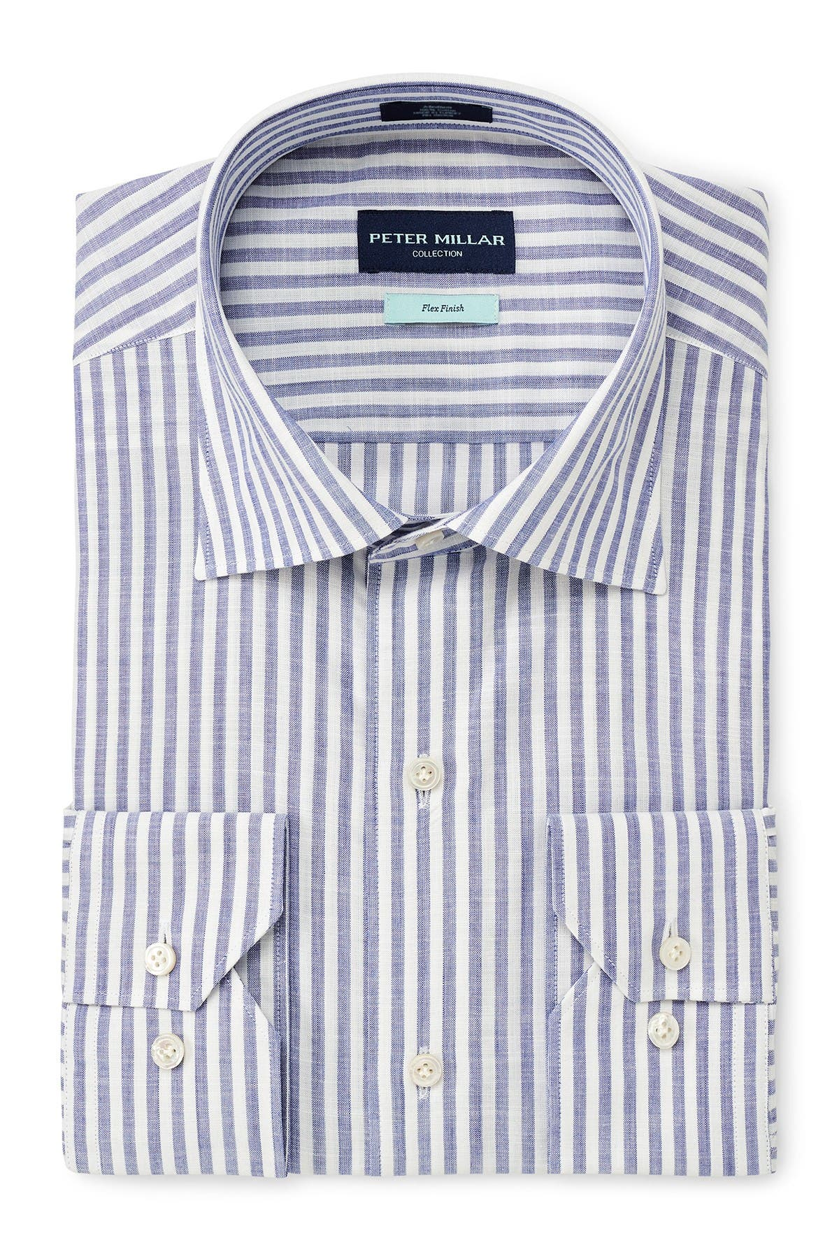 Image of Peter Millar Summer Chambray Stripe Shirt