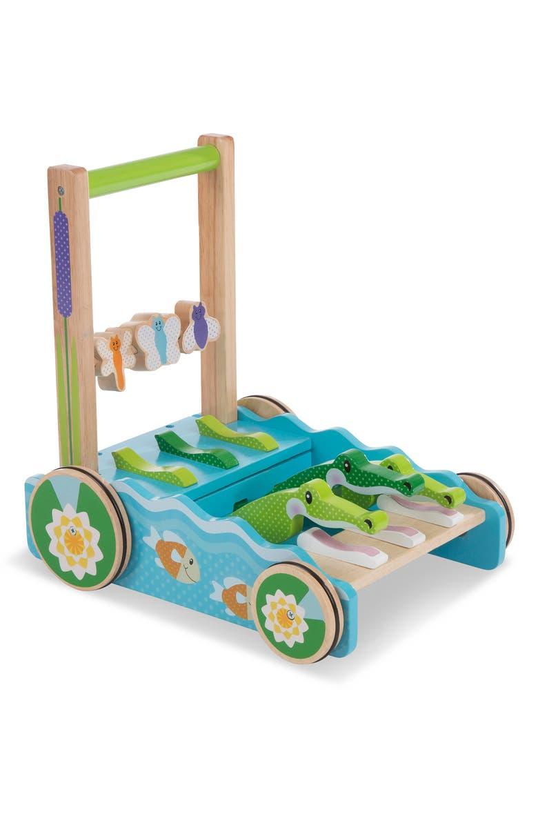 MELISSA & DOUG First Play Chomp & Clack Alligator Push Toy, Main, color, MULTI