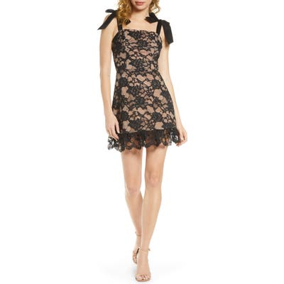 Bronx And Banco Willow Noir Lace Minidress, Black