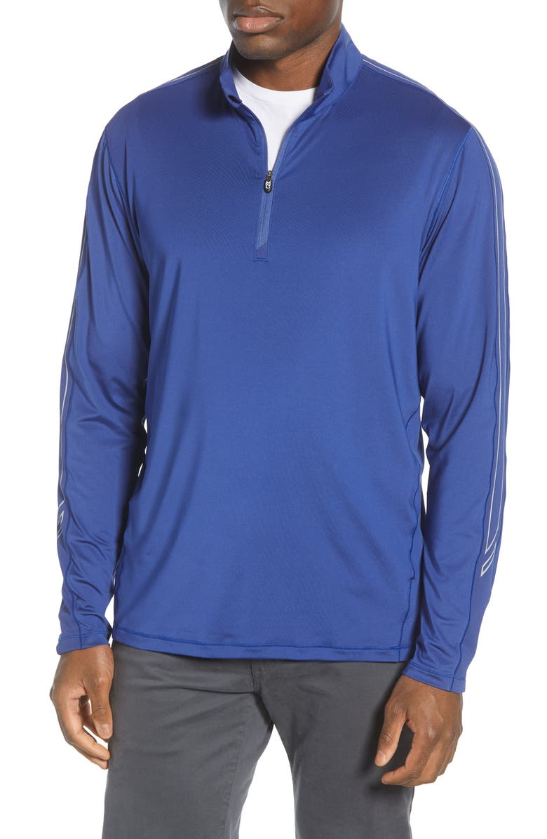 CUTTER & BUCK Pennant Classic Fit Half Zip Pullover, Main, color, TOUR BLUE