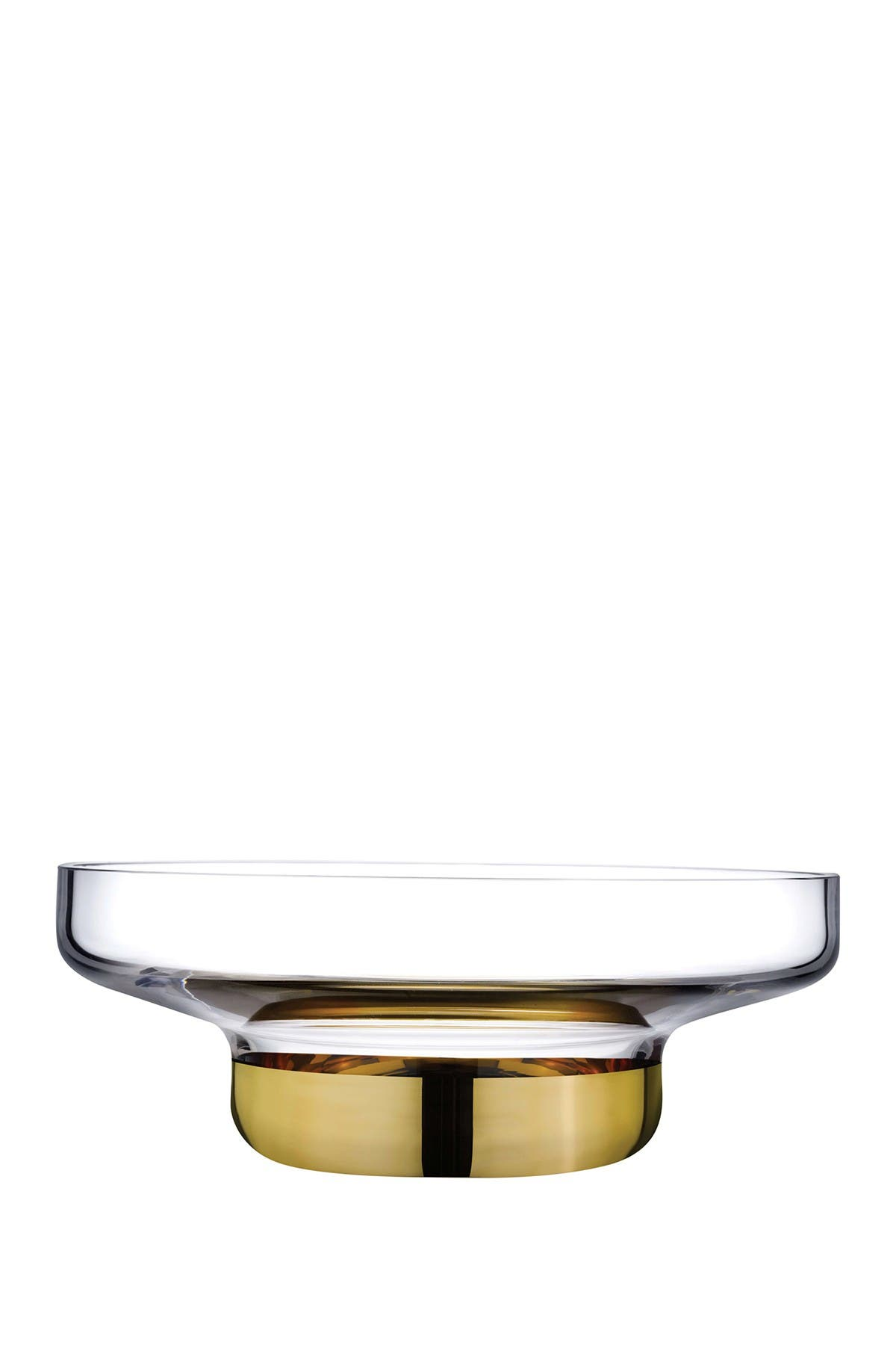 Nude Glass Contour Bowl - Wide with Clear Top and Golden Base at Nordstrom Rack