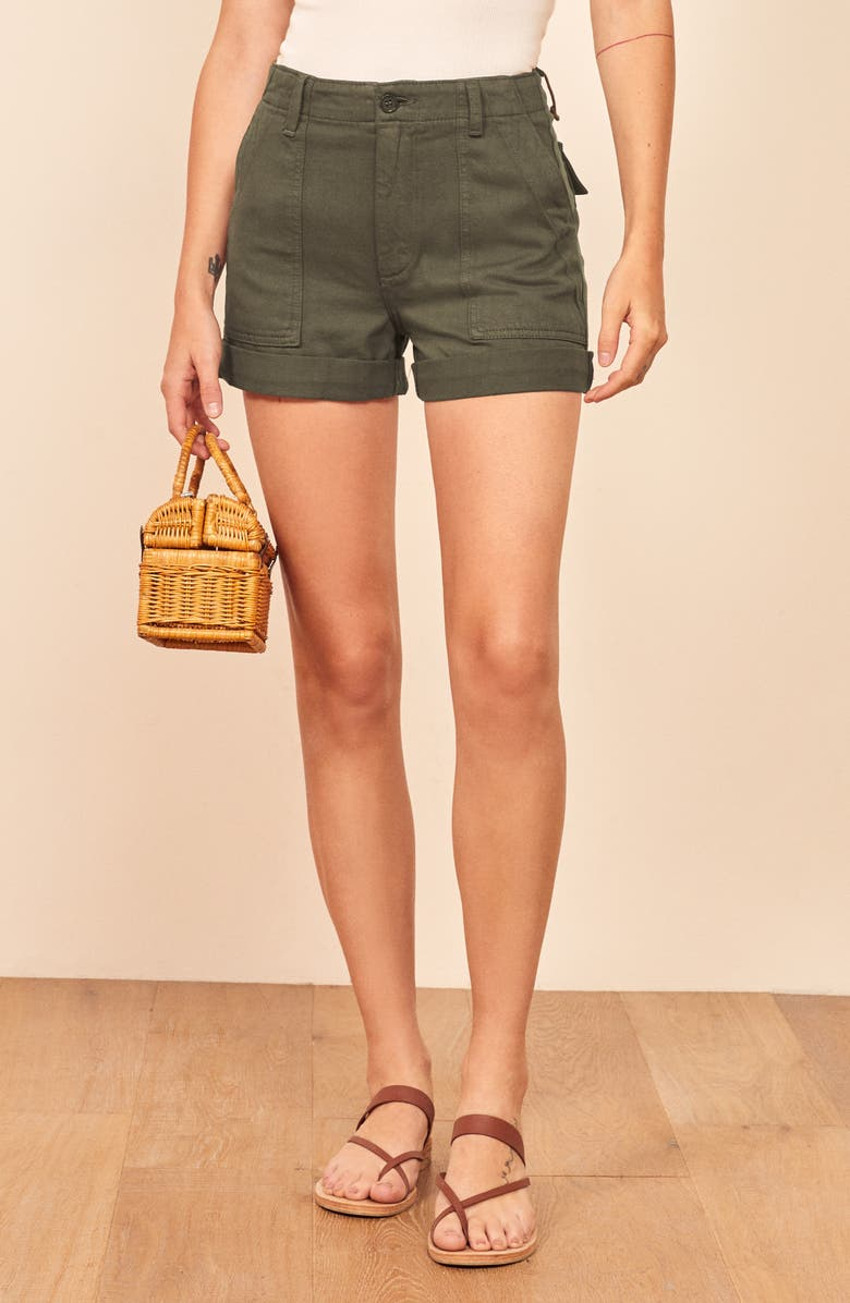 REFORMATION Utility Shorts, Main, color, ARMY