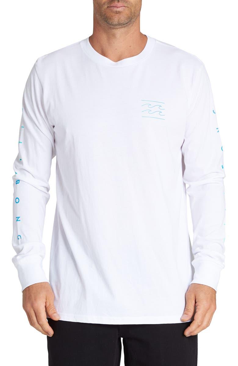 BILLABONG Unity Long Sleeve Crewneck T-shirt, Main, color, WHITE