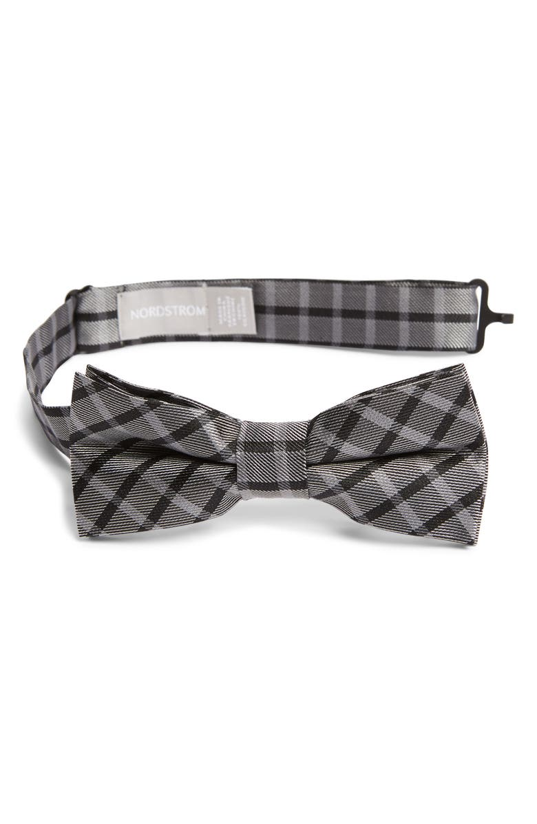 NORDSTROM Lorenzo Plaid Silk Bow Tie, Main, color, 001