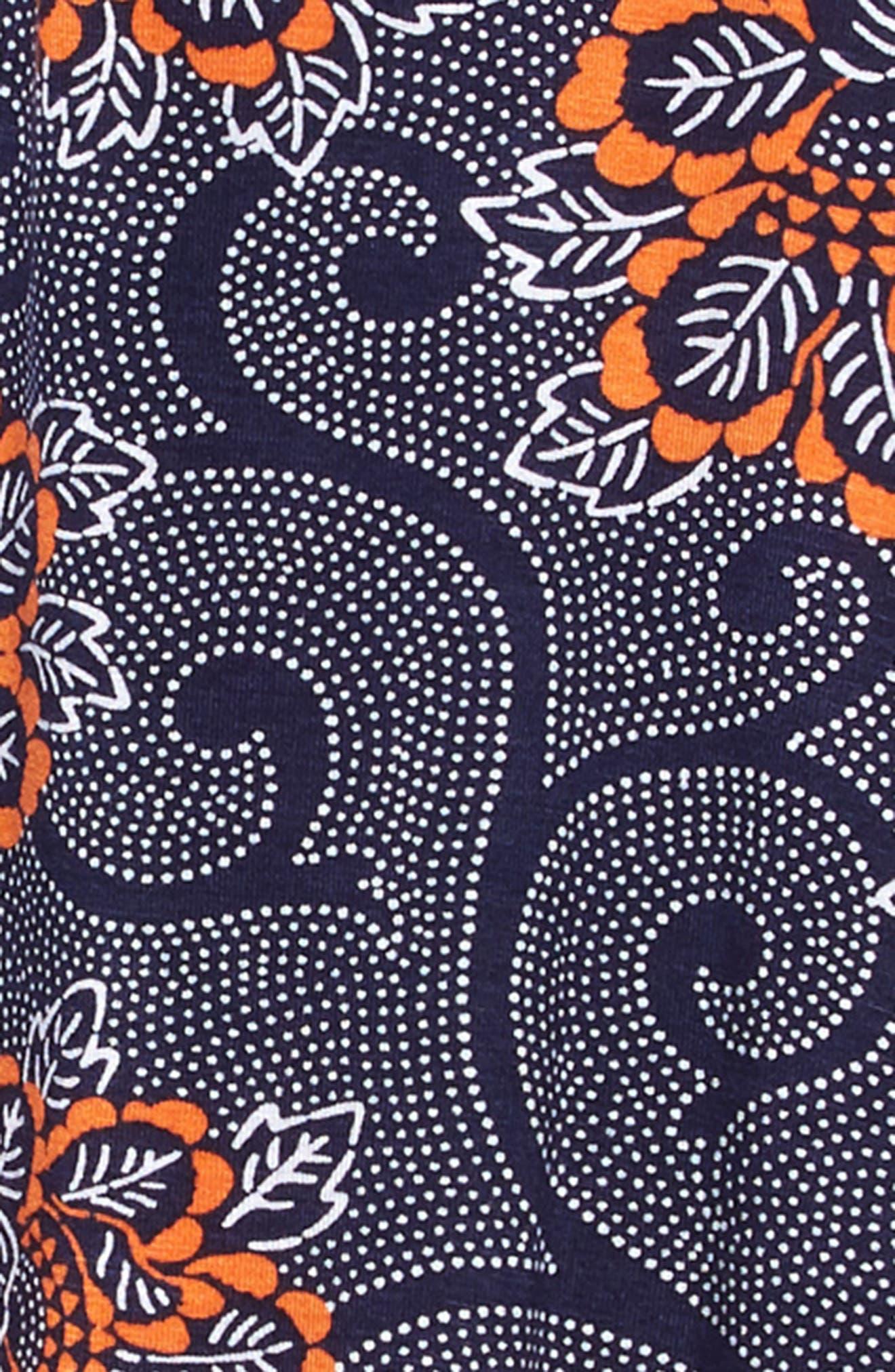 ,                             Print Handkerchief Hem Dress,                             Alternate thumbnail 3, color,                             NAVY PEACOAT PIAZZA FLORAL