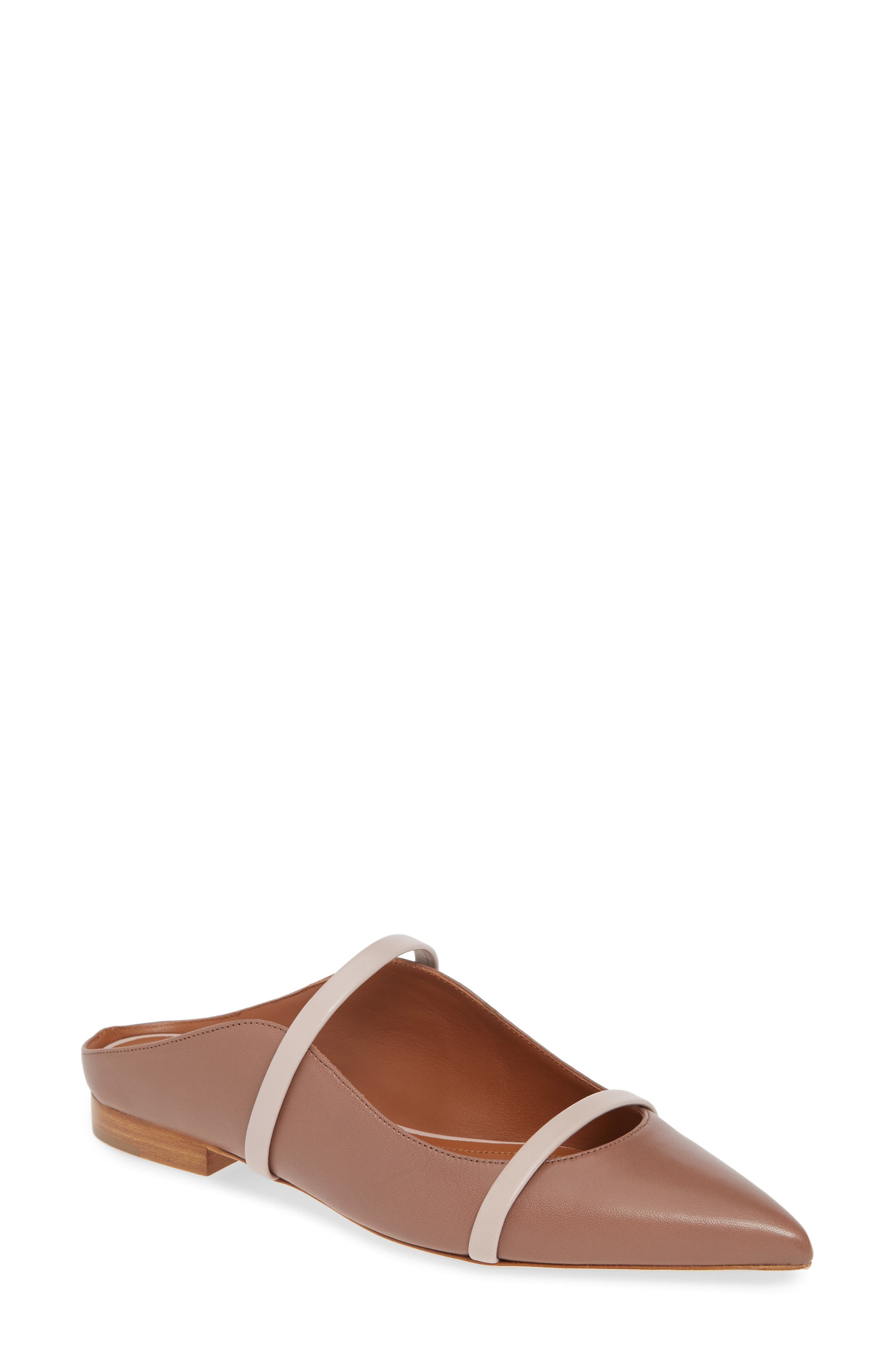 Malone Souliers Maureen Pointy Toe Flat - Brown
