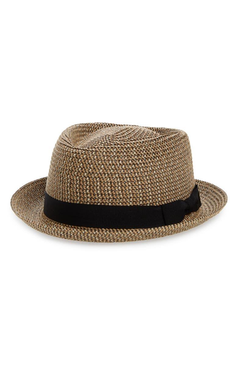 GOORIN BROS. Low Country Straw Porkpie Hat, Main, color, 250