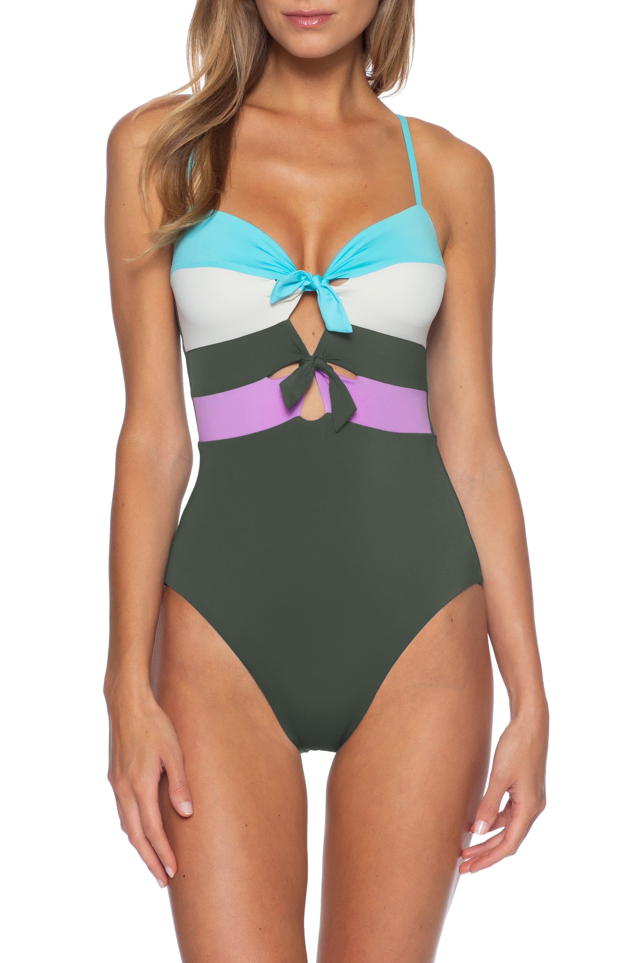 Image of BECCA Circuit Colorblock One-Piece Swimsuit