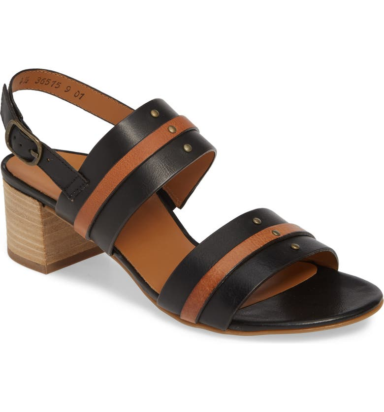 PAUL GREEN Vicky Slingback Sandal, Main, color, BLACK CUOIO LEATHER