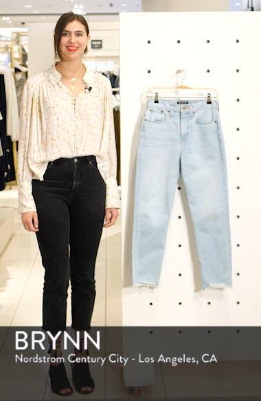 Cigarette Raw Hem Ankle Jeans, sales video thumbnail