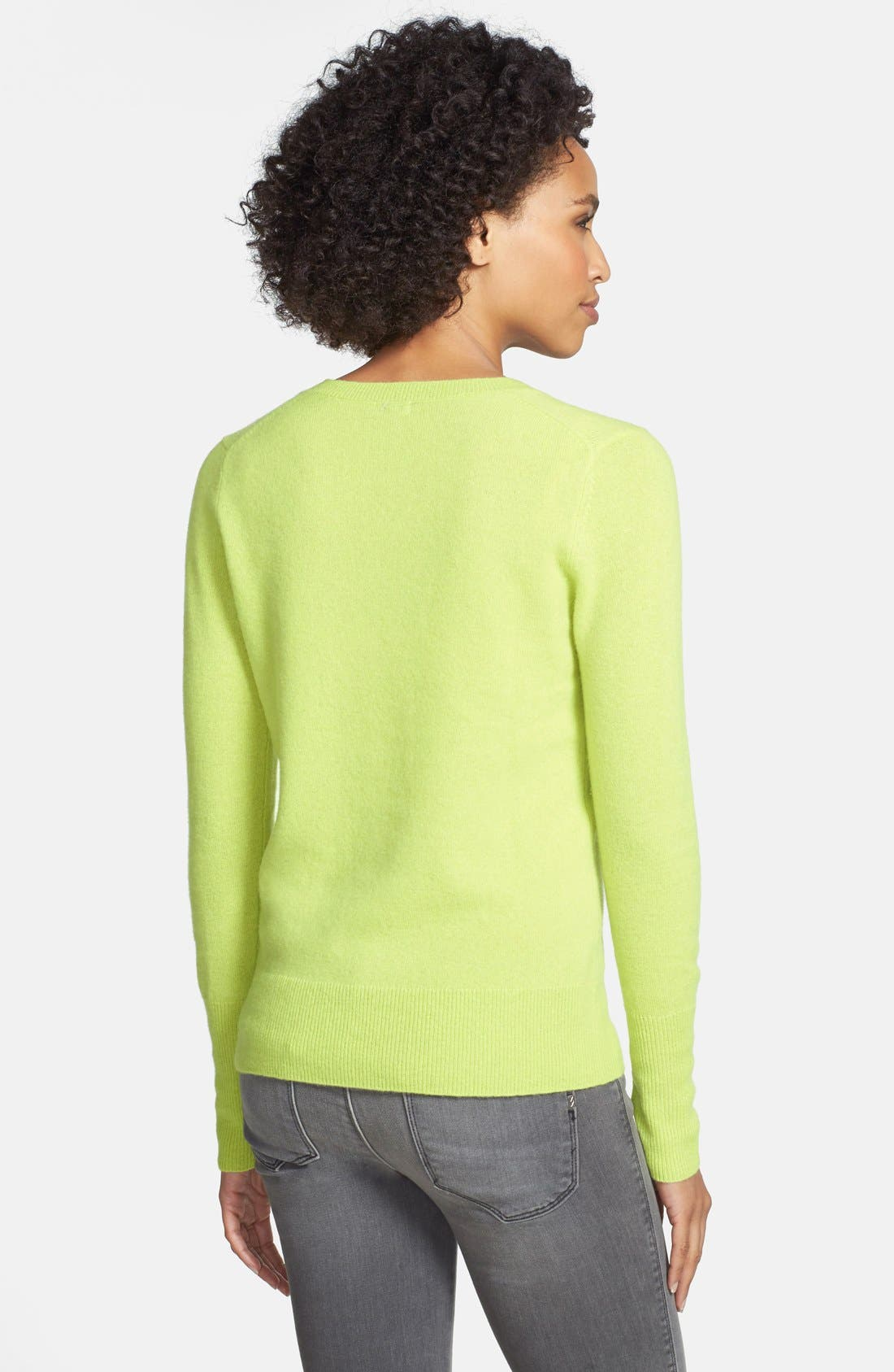 ,                             Cashmere V-Neck Sweater,                             Alternate thumbnail 28, color,                             310