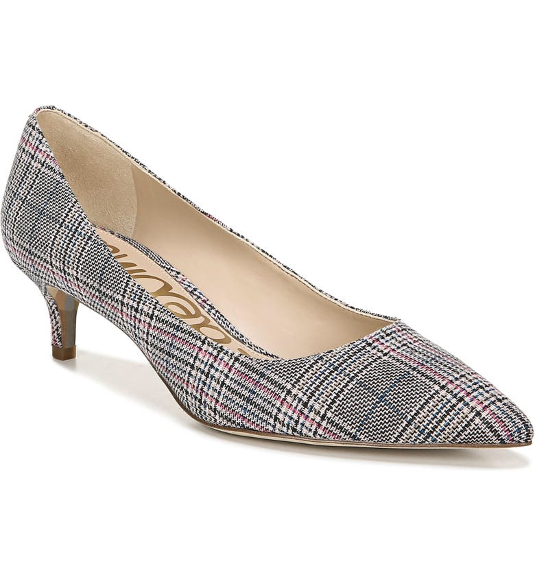SAM EDELMAN Dori Pump, Main, color, BLACK/WHITE/PINK MULTI
