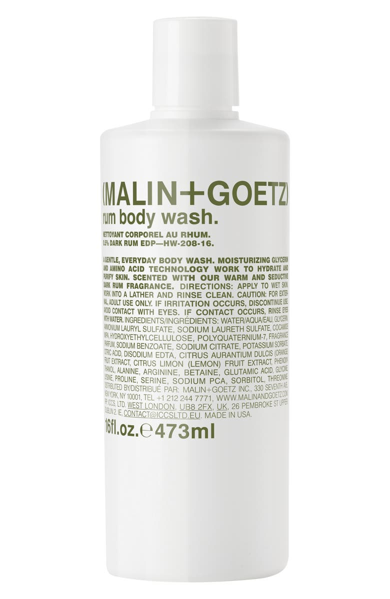 MALIN+GOETZ Rum Hand & Body Wash, Main, color, NO COLOR