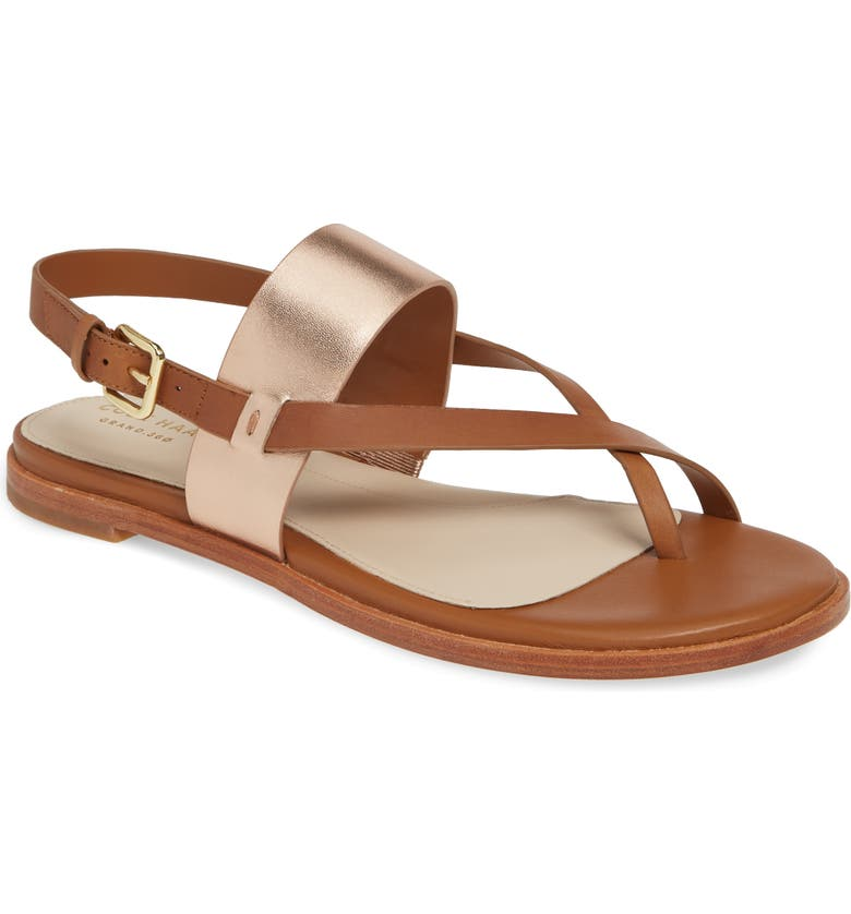 COLE HAAN Anica Sandal, Main, color, PECAN/ ROSE GOLD LEATHER
