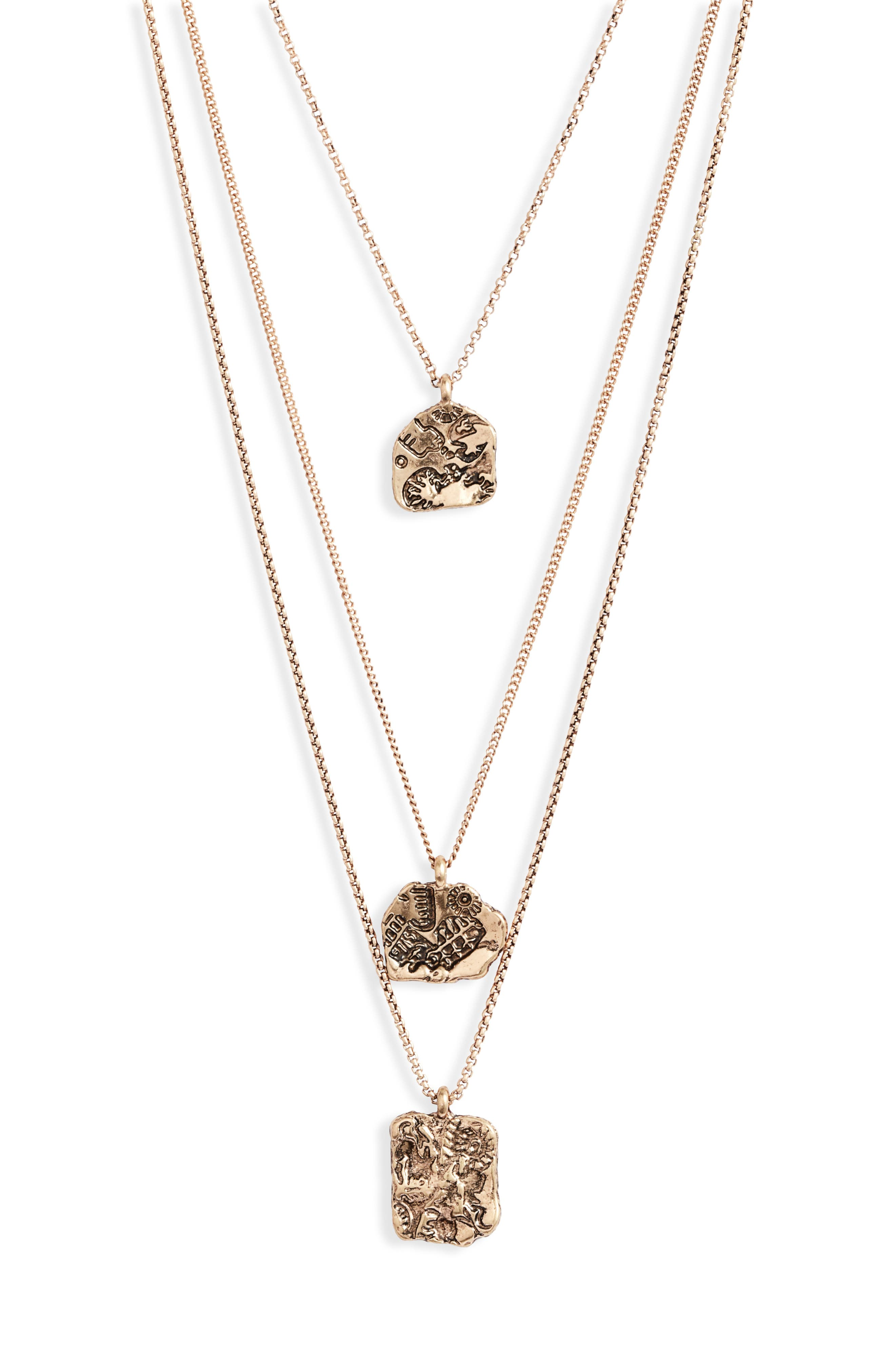 Astrological Charm Layered Necklace