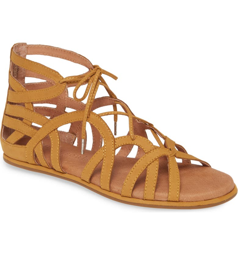 GENTLE SOULS BY KENNETH COLE 'Break My Heart 3' Cage Sandal, Main, color, HONEY LEATHER