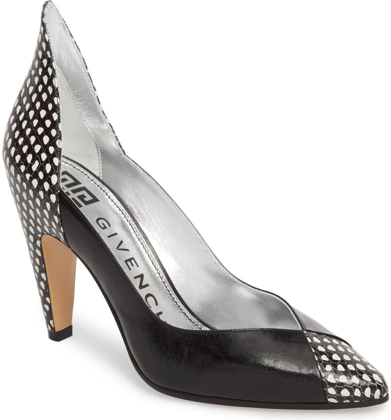 GIVENCHY Kangaroo Leather Pointy Toe Pump, Main, color, 004