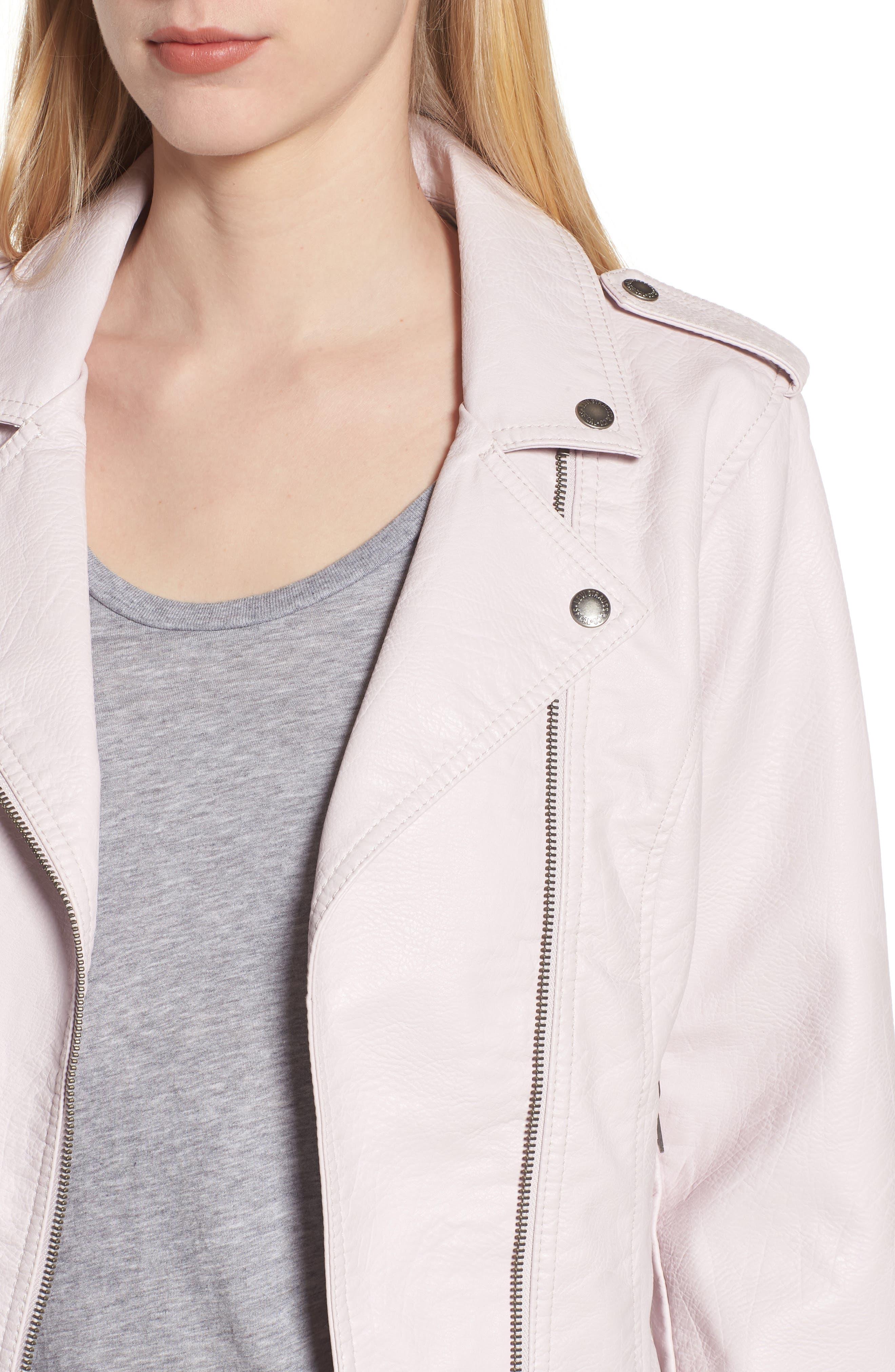,                             Faux Leather Moto Jacket,                             Alternate thumbnail 17, color,                             684