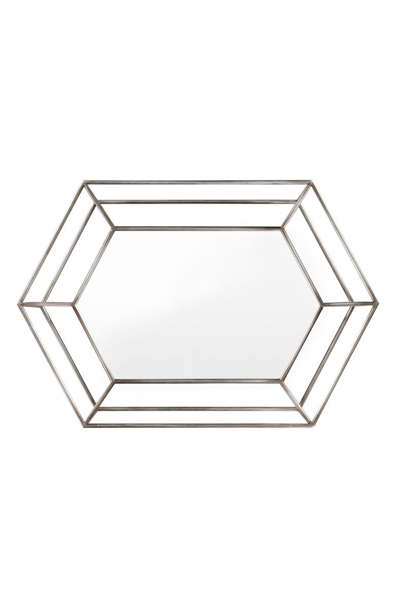SURYA HOME Collette Metal Frame Mirror, Main, color, GOLD