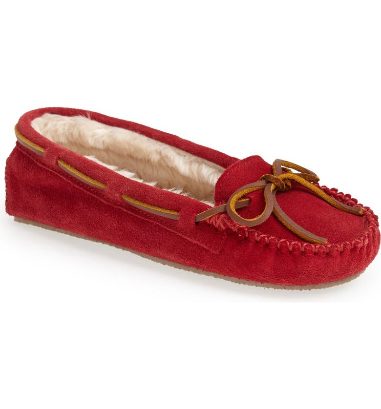 MINNETONKA 'Cally' Slipper, Main, color, RED