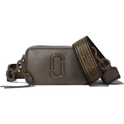 Marc Jacobs Snapshot Leather Crossbody Bag - Grey