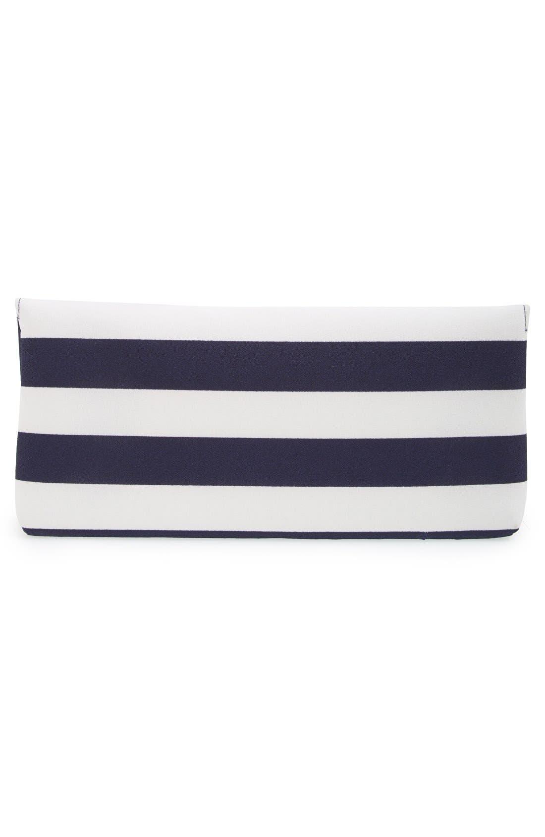 ,                             'Berenice' Embellished Stripe Clutch,                             Alternate thumbnail 4, color,                             400