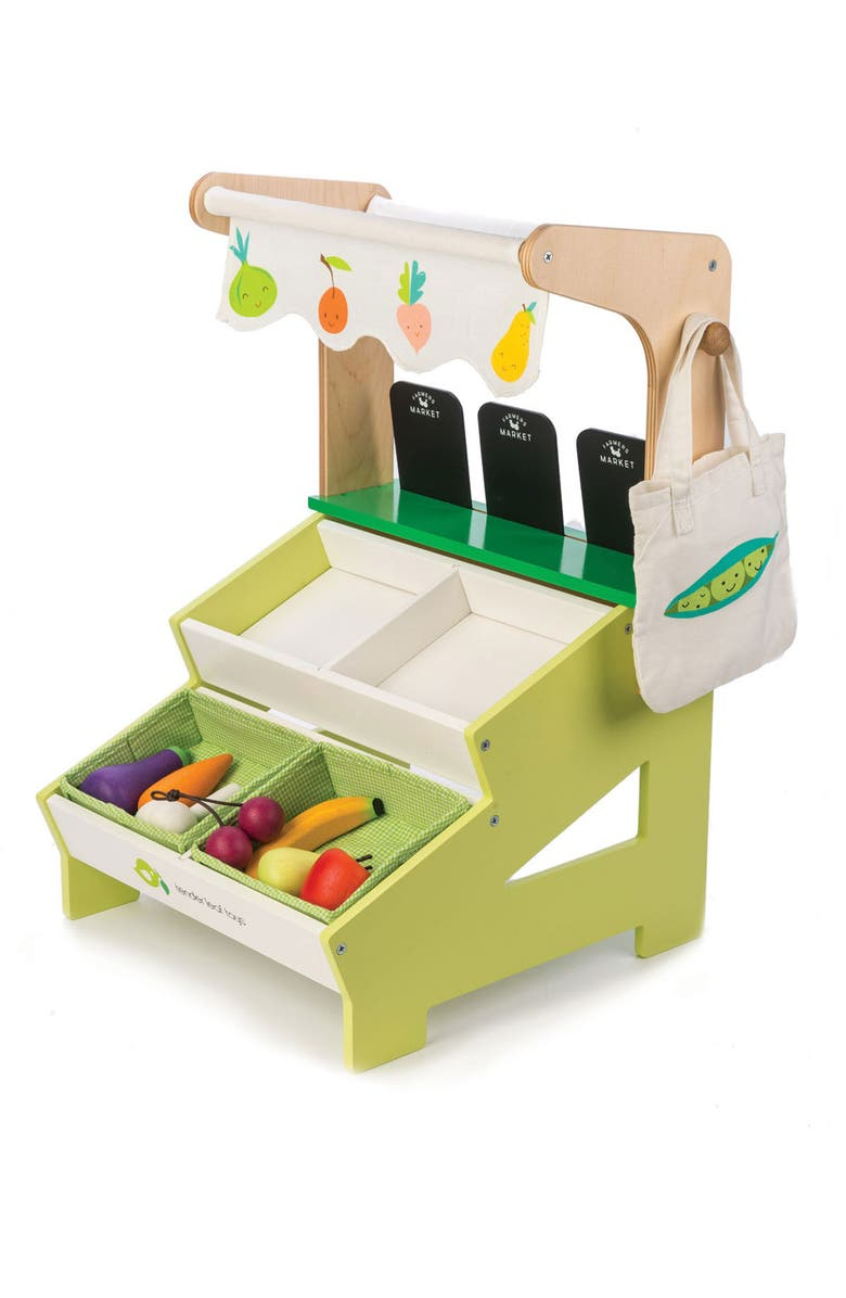 TENDER LEAF TOYS Farmers' Market Stall Play Set, Main, color, 100