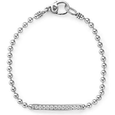 Lagos Caviar Spark Diamond Bar Chain Bracelet