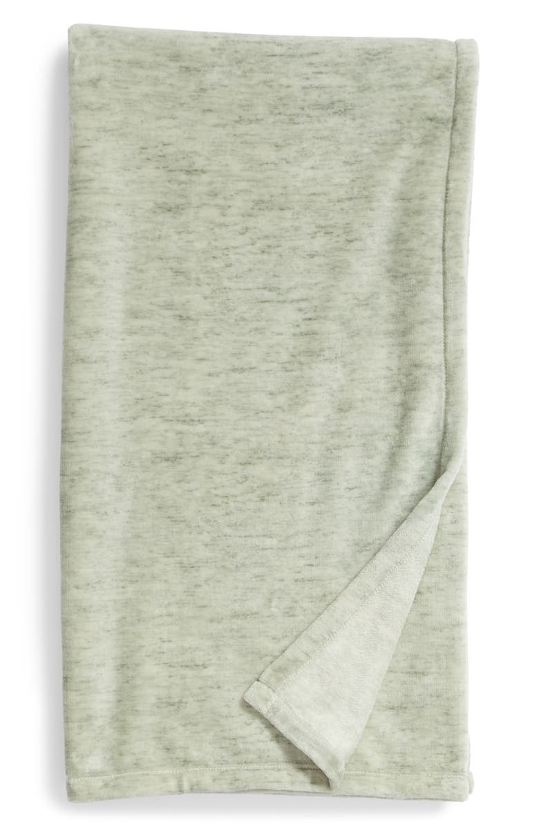 NORDSTROM AT HOME Heathered Throw, Main, color, GREEN SHORE