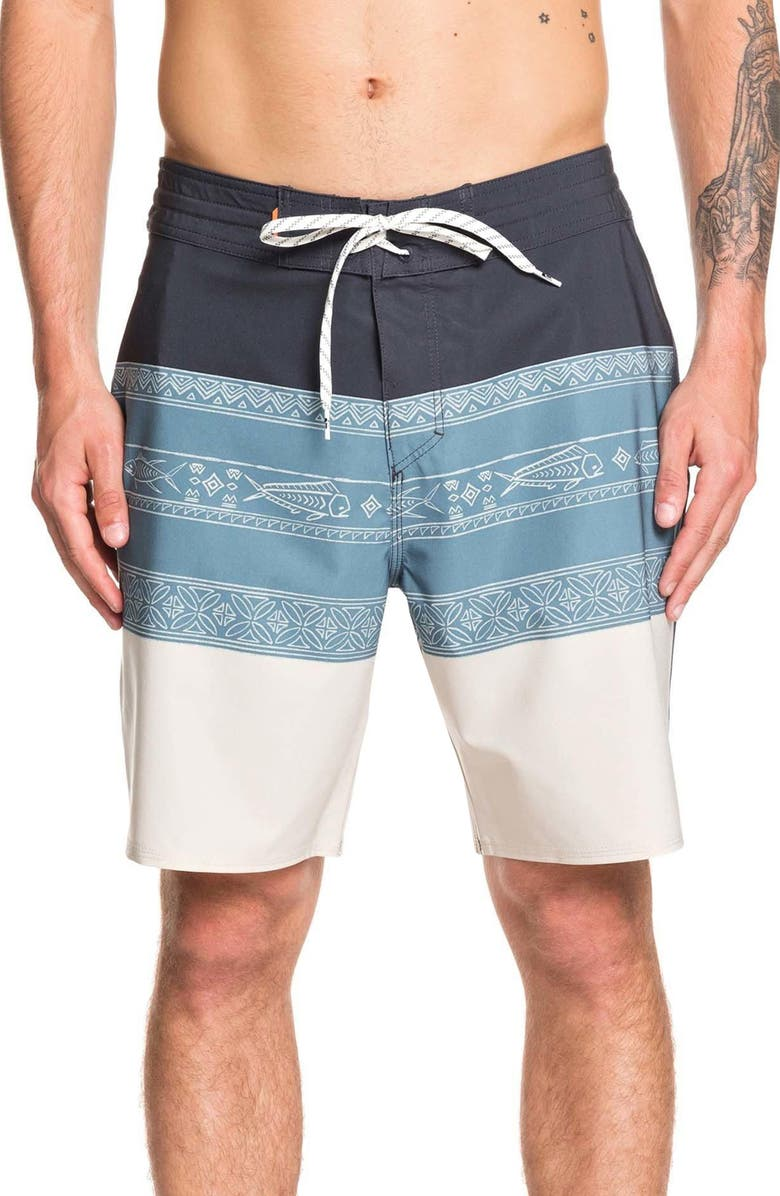 QUIKSILVER Liberty Board Shorts, Main, color, SILVER CLOUD
