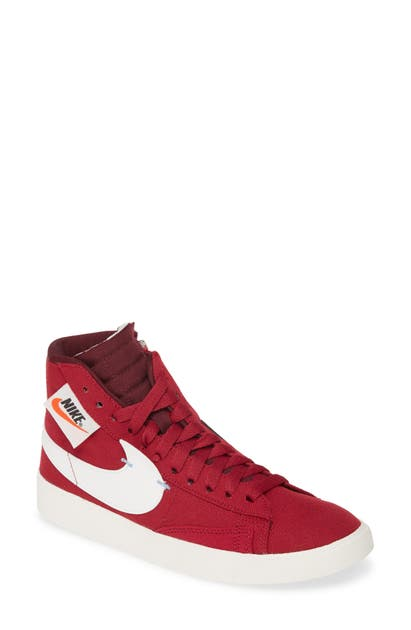 super popular 28889 f3c9c Blazer Mid Rebel Sneaker in Red/ Summit White/ Maroon
