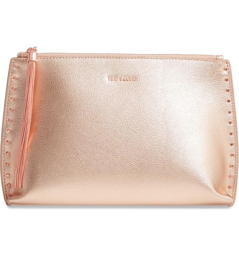 Tesssa Chain Tassel Leather Evening Bag