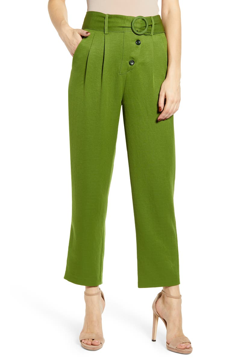 J O A Belted Crop Pants