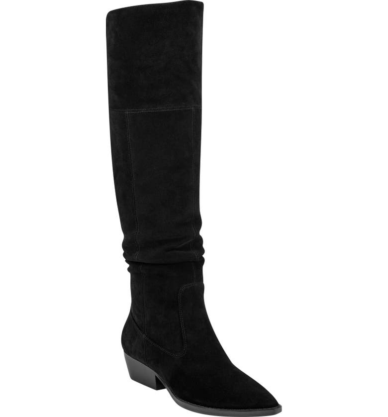 MARC FISHER LTD Oshi Over the Knee Boot, Main, color, BLACK/ BLACK SUEDE