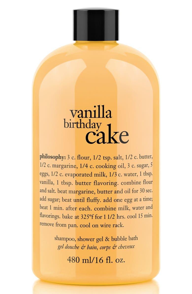 Vanilla Birthday Cake Shampoo Shower Gel Bubble Bath Main Color NO